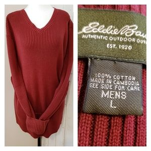 VINTAGE COTTON OVERSIZED RIBBED KNIT SWEATER